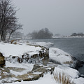 Large Stones Covered With Snow by Todd Gipstein