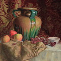 Large Vase With Apples by Walter Lynn Mosley