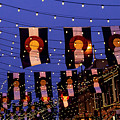 Larimer Square Denver With Colorado Flags by Teri Virbickis