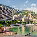 Larvotto Beach In Monaco by Elena Elisseeva