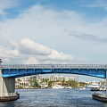 Las Olas Draw Bridge Over The Intracoastal Waterway  by Les Palenik