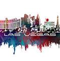 Las Vegas Skyline City Blue by Justyna JBJart