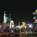 Las Vegas Strip At Night by Barb Montanye Meseroll