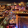 Las Vegas Strip North View Night 2 To 1 Ratio by Aloha Art