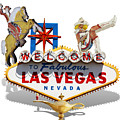 Las Vegas Symbolic Sign On White by Gravityx9 Designs