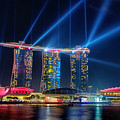 Laser Show At Mbs Singapore by Yew Kwang