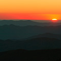 Last Light From Clingmans Dome by Clarence Holmes