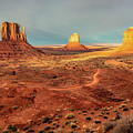 Last Light Over Monument Valley by Mimi Ditchie