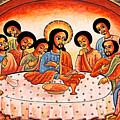 Last Supper Angels by Munir Alawi
