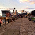 Late Afternoon At Albert Dock by Joan-Violet Stretch
