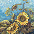 Late Sunflowers  by Valerie Meotti