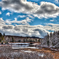 Late Winter At The Tobie Trail Bridge by David Patterson