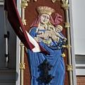 Latvia, Riga, Virgin Mary And Jesus by Keenpress