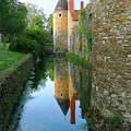 L'aubraie Tower Reflection by Vicki Hone Smith