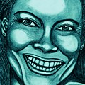 Laughing Girl In Blue 2 by Richard Heyman