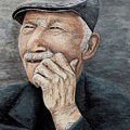 Laughing Old Man by Judy Kirouac