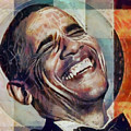 Laughing President Obama V2 by WD Mancini