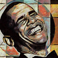 Laughing President Obama by WD Mancini