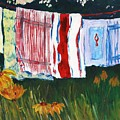 Laundry Day At Le Vieux by Tara Moorman
