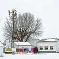 Laundry Drying In Winter by David Arment
