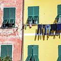 Laundry Hanging In Vernazza, Cinque Terre, Italy by Global Light Photography - Nicole Leffer