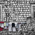Laundry Line - Dubrovnik Croatia #3 by Stuart Litoff