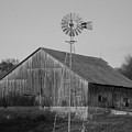 Laurel Road Barn In Black And White by Brook Steed