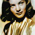 Lauren Bacall - Vintage Painting by Ian Gledhill