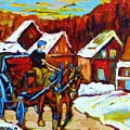 Laurentian Village Ride by Carole Spandau