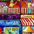 Laurier Bike Shop Montreal Art Summer City Scenes Plateau Mont Royal Canadian Scene Carole Spandau by Carole Spandau