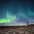 Lava And Light - Aurora Over Iceland by Alex Blondeau