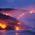 Lava At Twilight by Peter French - Printscapes