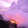 Lava Enters Ocean by Peter French - Printscapes