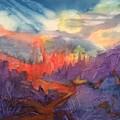 Lava Flow Abstract by Ellen Levinson