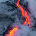 Lava Flowing Into The Ocean 20 by Jim Thompson