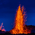 Lava Fountains At The Holuhraun Fissure by Panoramic Images