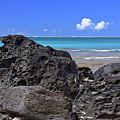 Lava Rocks At Haena Beach by Marie Hicks