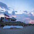 Lavallette Nj Life Guard Boat Square by Terry DeLuco