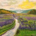 Lavender Brook by Milagros Palmieri