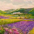 Lavender Fields Landscape by Olha Darchuk