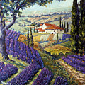 Lavender Fields Tuscan By Prankearts Fine Arts by Richard T Pranke