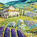 Lavender Hills Tuscany By Prankearts Fine Arts by Richard T Pranke