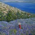 Lavender In Full  Bloom by Mirjana Gotovac