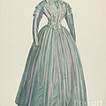 Lavender Taffeta Dress by American 20th Century
