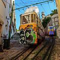 Lavra Funicular, Lisbon, Portugal by Karol Kozlowski