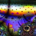 Layered Fractal World by Ron Bissett