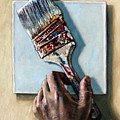 Laying Down The Paint Brush by John Lautermilch