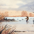 Laying Out The Decoys I by Bill Holkham