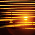 Lazy Summer Afternoon With Sunset View Through The Wooden Window Shades by Srdjan Kirtic