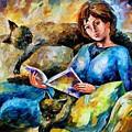 Lazy Time - Palette Knife Oil Painting On Canvas By Leonid Afremov by Leonid Afremov